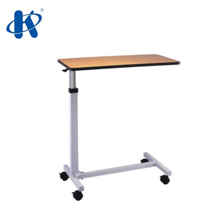 KY-E2 over bed movable hospital bedside table ky-e2 hospital patient food table with spring and wheels